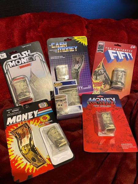 Dollar Bill Toy Packaging