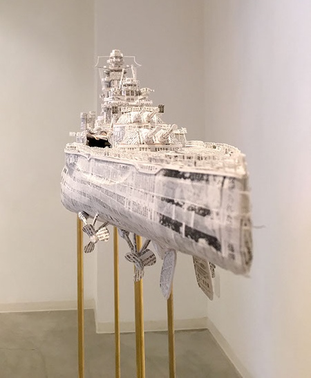Battleships made of Newspapers