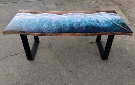 Ocean Resin Coffee Table