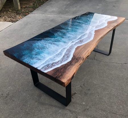 Ocean Resin Table