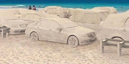 Cars Made of Sand
