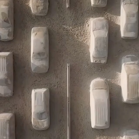 Leandro Erlich Sand Cars
