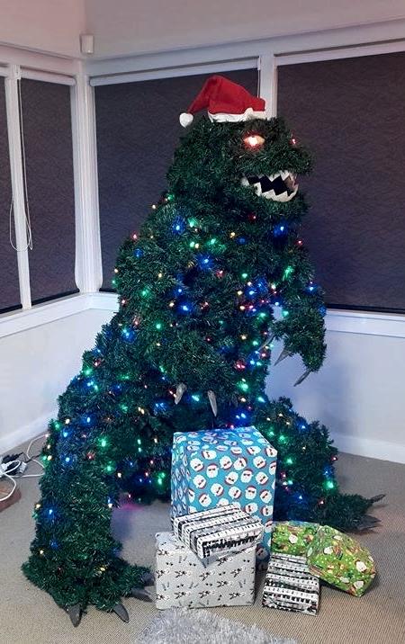 Giant Godzilla Christmas Tree