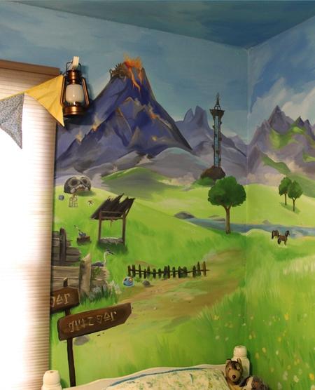 Legend of Zelda Mural