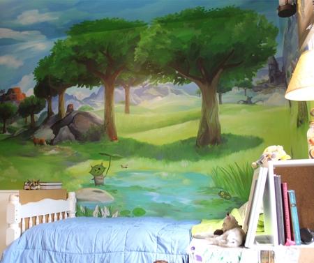 Platypus Murals Legend of Zelda Bedroom