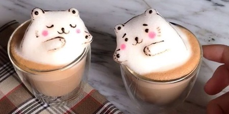 3D Latte Coffee Art