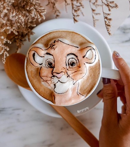 Daphne Tan 3D Latte Art
