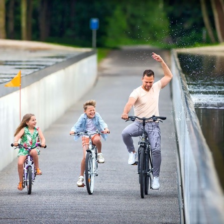 Cycling Through Water Bicycle Path