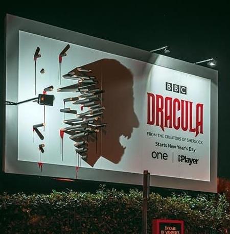 BBC Dracula Shadow Billboard