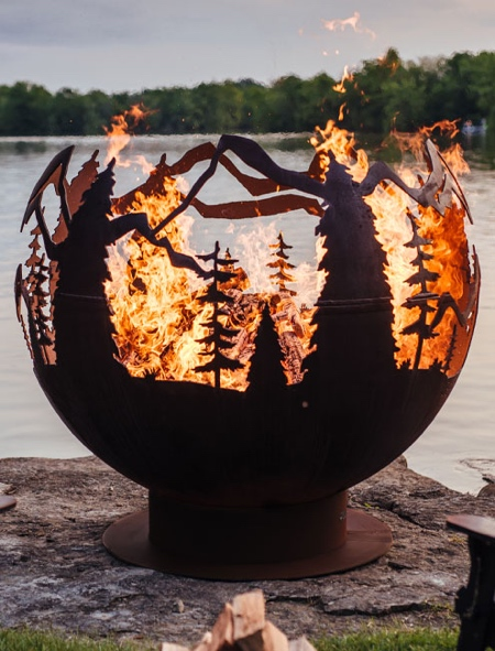 Forest on Fire Pit