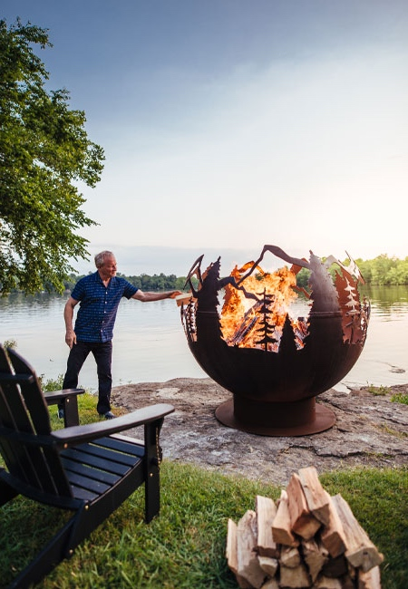 Forest Globe Fire Pit