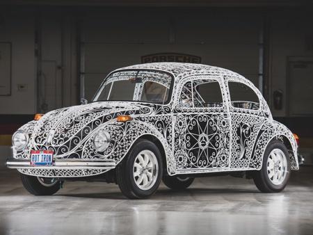 Wrought Iron Volkswagen Beetle