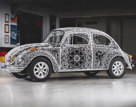 Iron Volkswagen Beetle Car