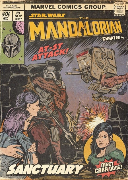 The Mandalorian Comic Book Cover