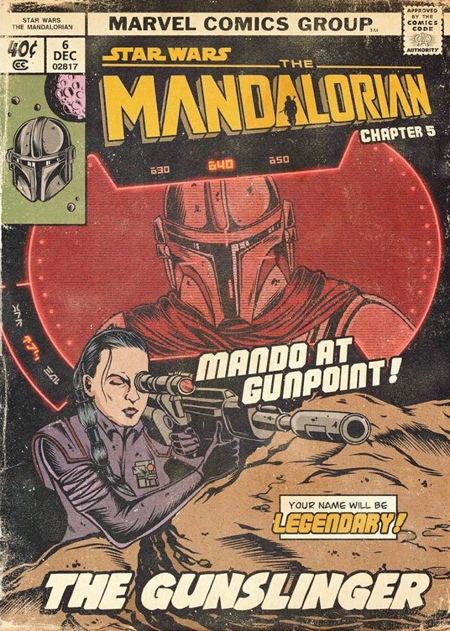 Mandalorian Comic Book Cover
