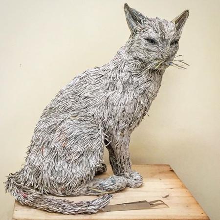 Animal Made of Newspapers