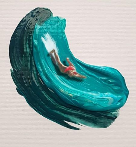 Swimming through Paint