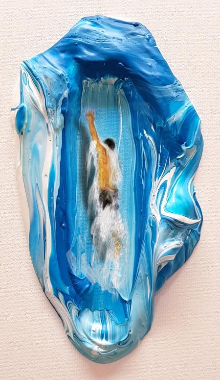 Golsa Golchini Swimming in Paint