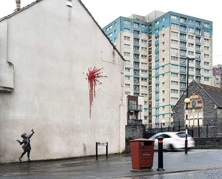 Valentines Day Banksy Street Art