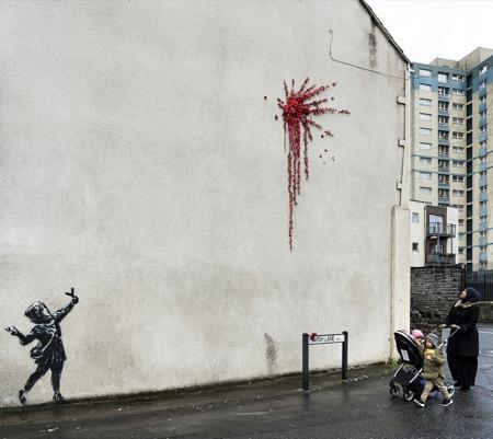 Banksy Street Art Valentines Day