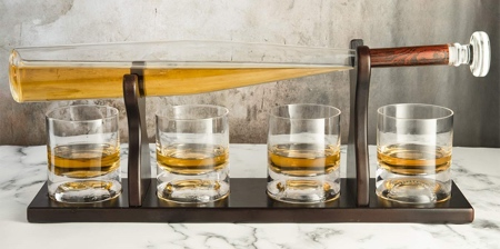 Baseball Bat Whiskey Decanter