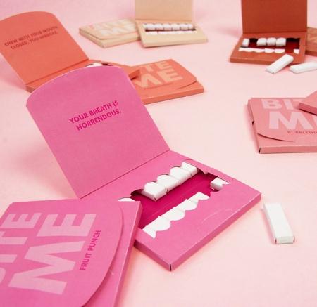 Zoe Schneider Bite Me Gum Packaging
