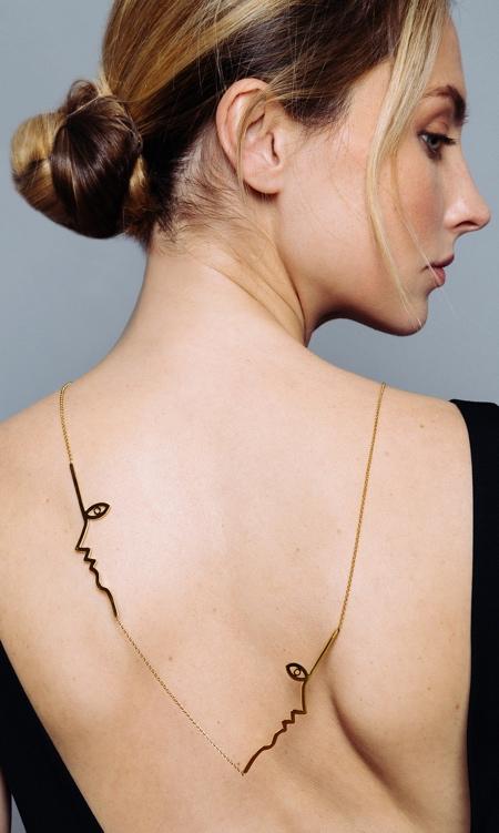 Mara Paris Face Outline Jewelry