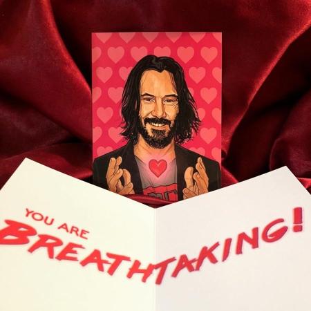 Keanu Reeves Valentines Day Card