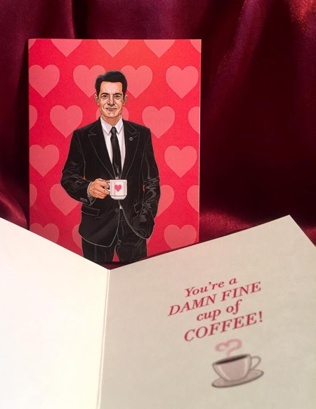 TWIN PEAKS Valentines Day Card