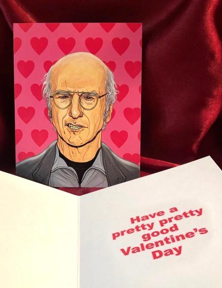Larry David Valentines Day Card