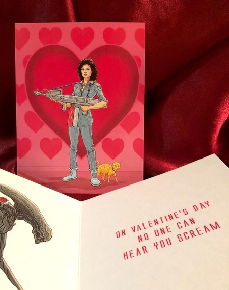 Ripley ALIEN Valentines Day Card