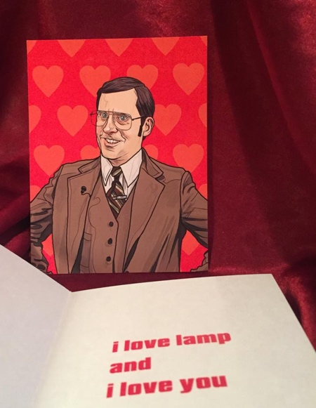 ANCHORMAN Valentines Day Card