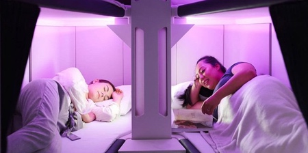 Airplane Economy Sleeping Pods