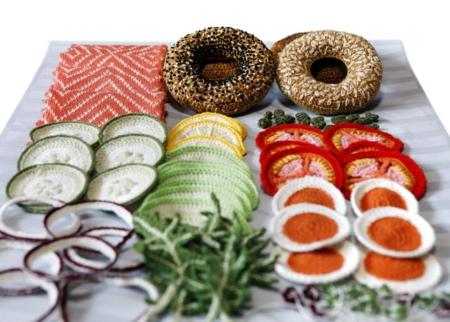 Kate Jenkins Crocheted Bagels