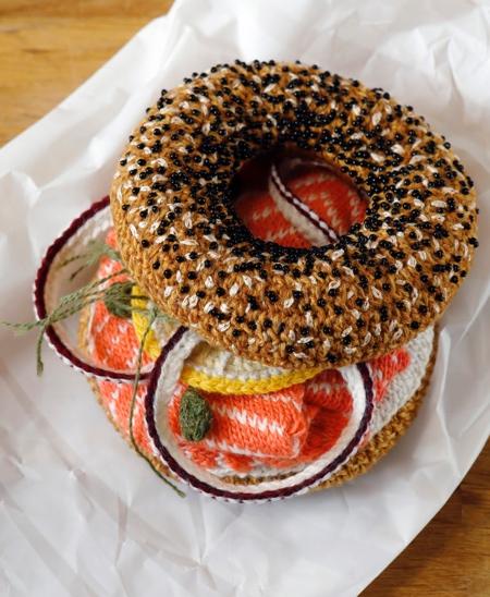 Crocheted Bagel