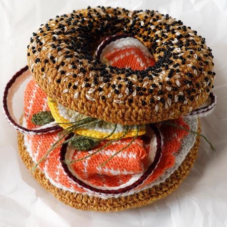 Kate Jenkins Crocheted Bagel
