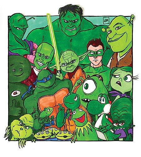 Green Famous Characters