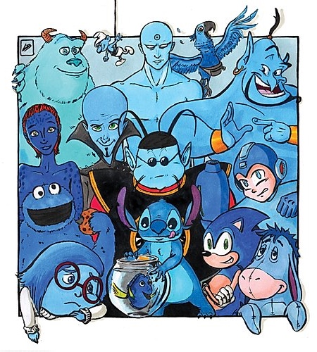 Blue Famous Characters