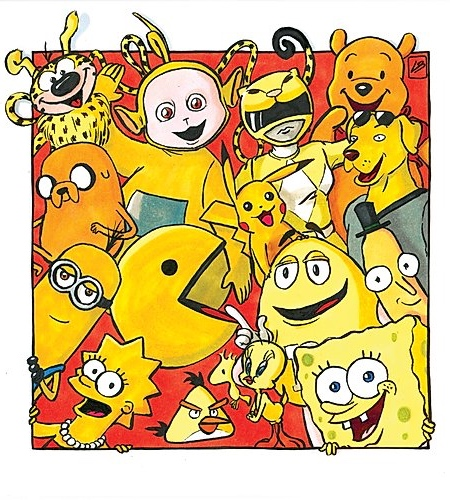 Yellow Famous Characters