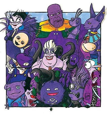 Purple Famous Characters