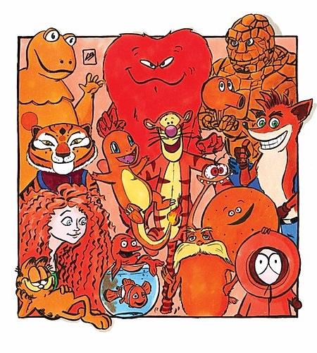 Orange Famous Characters