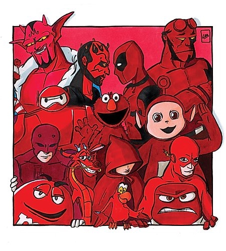 Red Famous Characters