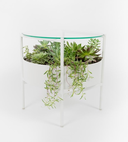 Glass Planter Table
