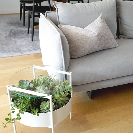 Glass Planter Coffee Table