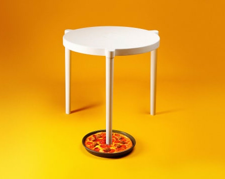 Real Pizza Hut Table