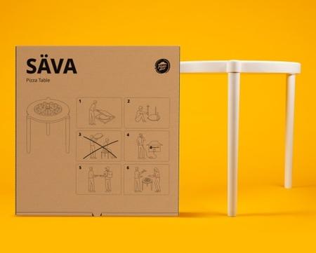 IKEA Pizza Box Table