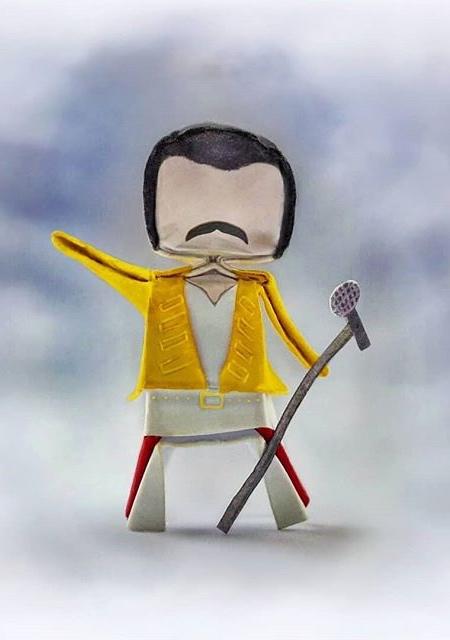 Freddie Mercury Origami