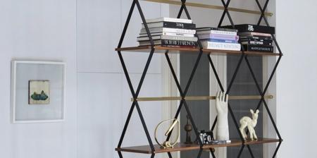 Hanging Shelves Room Divider