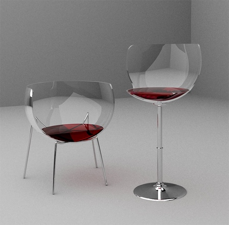 Marta Del Valle Hernandez Wine Glass Chair