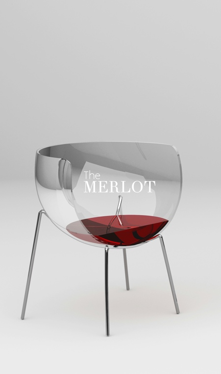 Marta Del Valle Hernandez Merlot Chair